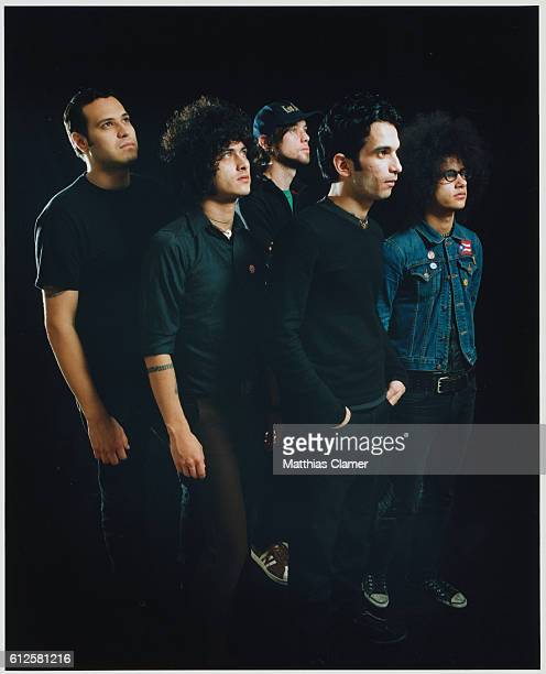 Paul Hinojos Omar Rodriguez Cedric Bixler Tony Hajjar and Jim Ward of At The DriveIn