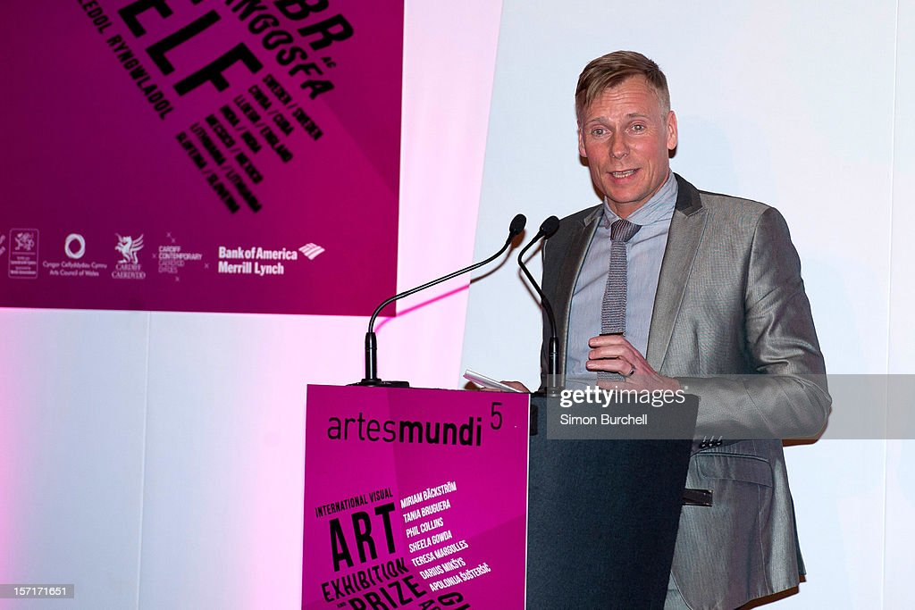Paul Hobson speaks as Teresa Margolles was today announced as the winner of the Artes Mundi 5 prize at the National Museum Cardiff by chair of the judging panel, Tim Marlow on November 29, 2012 in Cardiff, Wales. The Award ceremony was attended by all of the shortlisted artists as well as the first minister of Wales, Rt Hon Carwyn Jones AM. Teresa Margolles was chosen from the shortlist of seven international artists and their work is currently being shown at an exhibition at the museum that will close 31 January 2013.