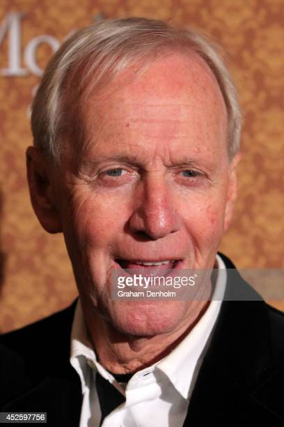 Paul Hogan arrives at the opening night of 'Mother Son' at the Comedy Theatre on July 24 2014 in Melbourne Australia