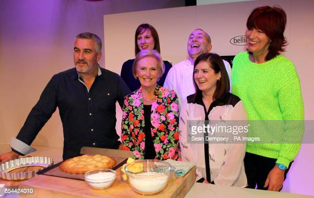 Paul Hollywood Great British Bake Off winner Frances Quinn Mary BerryChef Michel Roux Jr Masterchef winner Natalie Coleman and Janet StreetPorter at...