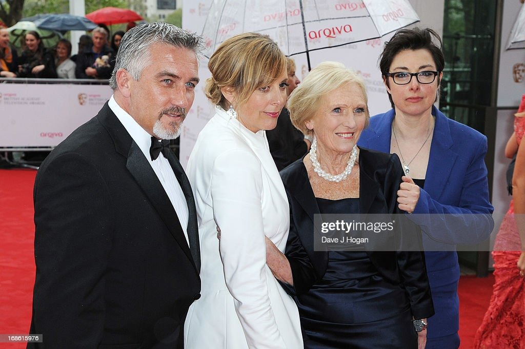 Paul Hollywood, Mel Giedroyc, Mary Berry and Sue Perkins attend the BAFTA TV Awards 2013 at The Royal Festival Hall on May 12, 2013 in London, England.
