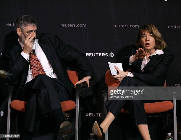 Paul Holmes Reuters Global Editor for Political General News and Lauren Landis Sr Representative of the US State Dept in Sudan at the Reuters...