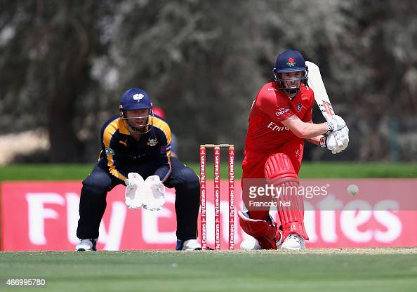 Paul Horton of Lancashire bats during the Emirates Airline T20 Cup match between Lancashire and Yorkshire at the Sevens Stadium on March 20 2015 in...