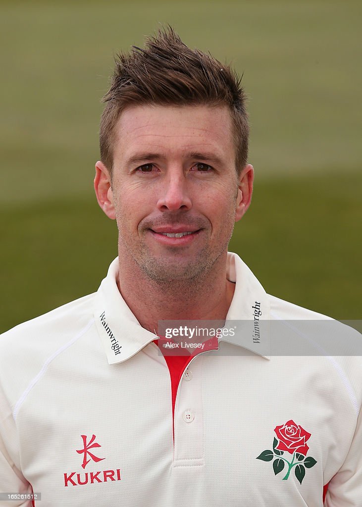 Paul Horton of Lancashire CCC during a pre-season photocall at Old Trafford on April 2, 2013 in Manchester, England.