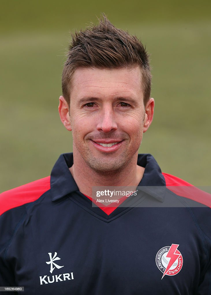 Paul Horton of Lancashire CCC wears the Yorkshire 40 during a pre-season photocall at Old Trafford on April 2, 2013 in Manchester, England.