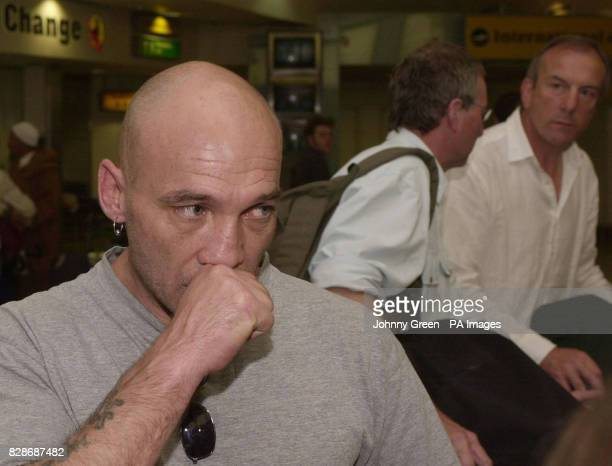 Paul Humble from Eastbourne in East Sussex at Heathrow Airport in southwest London following his release from Prison Civile in Morocco's Sali...