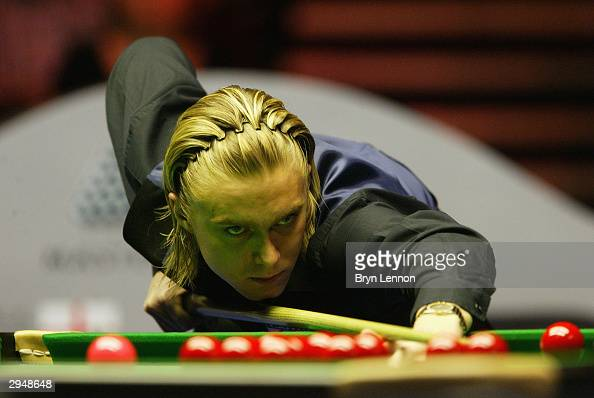 Paul Hunter on his way to winning The Masters Snooker Final against Ronnie O'Sullivan of England at Wembley Conference Centre February 8 2004 in...