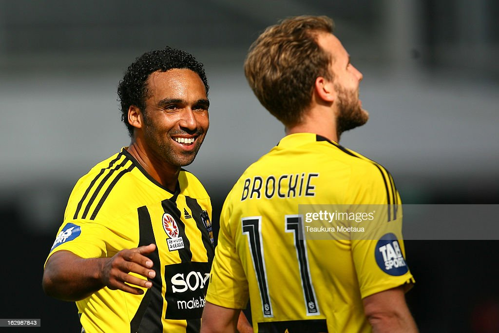 <a gi-track='captionPersonalityLinkClicked' href=/galleries/search?phrase=Paul+Ifill&family=editorial&specificpeople=234885 ng-click='$event.stopPropagation()'>Paul Ifill</a> of the Wellington Phoenix celebrates during the round 23 A-League match between the Wellington Phoenix and the Melbourne Heart at Forsyth Barr Stadium on March 3, 2013 in Dunedin, New Zealand.