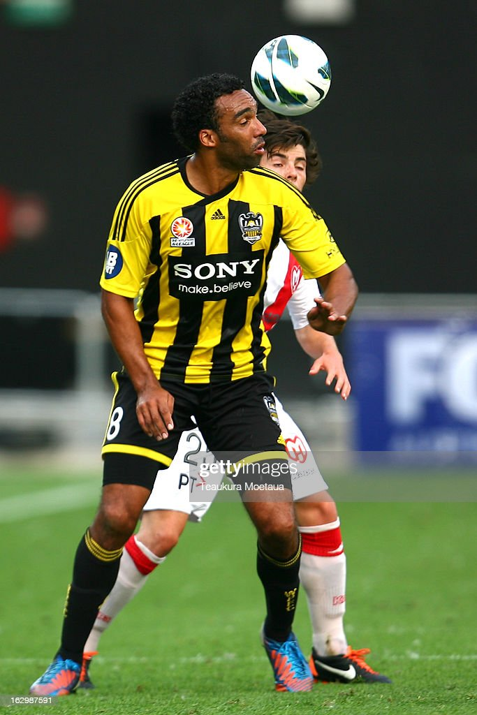 <a gi-track='captionPersonalityLinkClicked' href=/galleries/search?phrase=Paul+Ifill&family=editorial&specificpeople=234885 ng-click='$event.stopPropagation()'>Paul Ifill</a> of the Wellington Phoenix looks to control the ball during the round 23 A-League match between the Wellington Phoenix and the Melbourne Heart at Forsyth Barr Stadium on March 3, 2013 in Dunedin, New Zealand.