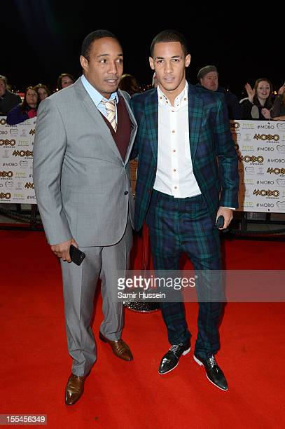 Paul Ince and son attend the 2012 MOBO awards at Echo Arena on November 3 2012 in Liverpool England