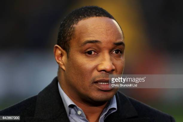 Paul Ince looks on during the Emirates FA Cup Fifth Round match between Wolverhampton Wanderers and Chelsea at Molineux on February 18 2017 in...