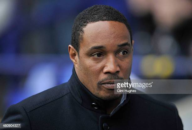 Paul Ince manager of Blackpool during the FA CupThird Round match between Bolton Wanderers and Blackpool at the Reebok Stadium on January 4 2014 in...
