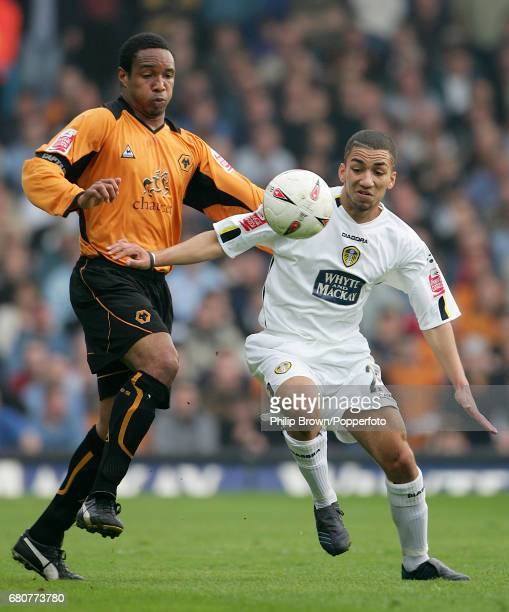 Paul Ince of Wolverhampton and Aaron Lennon of Leeds in action during the Coca Cola League Championship match between Leeds United and Wolverhampton...