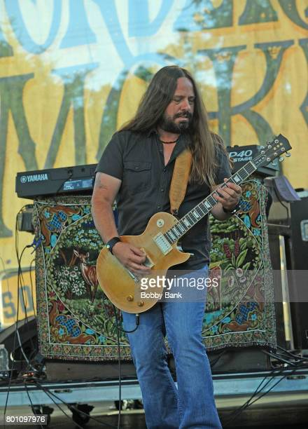Paul Jackson of Blackberry Smoke performs at the 8th Annual Rock Ribs Ridges Festival at Sussex County Fairgrounds on June 25 2017 in Augusta New...