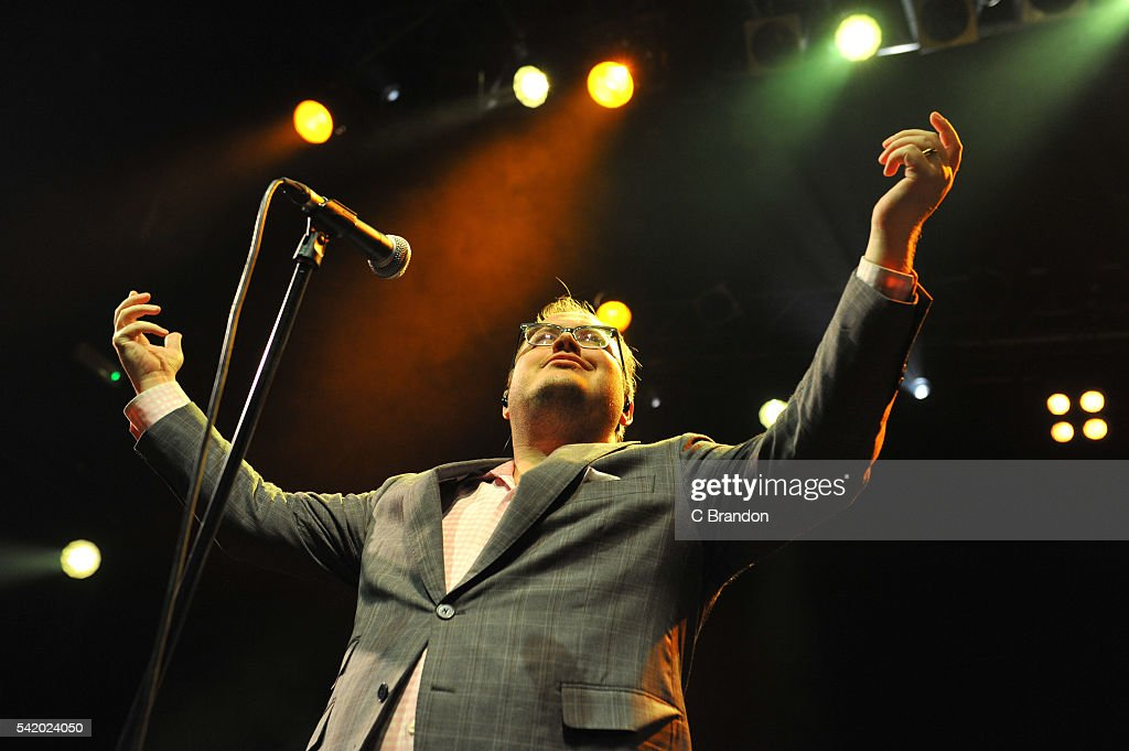 Paul Janeway of St Paul and The Broken Bones performs on stage at KOKO on June 21 2016 in London England