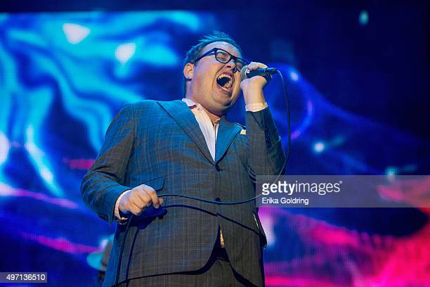 Paul Janeway of St Paul The Broken Bones performs at Emeril Lagasse Foundation's Boudin Bourbon Beer at Champions Square on November 13 2015 in New...