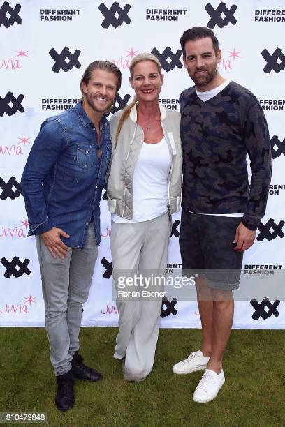 Paul Janke Alexandra von Schoening and Christoph Metzelder attend the Different Fashion Event on July 7 2017 in Sylt Germany