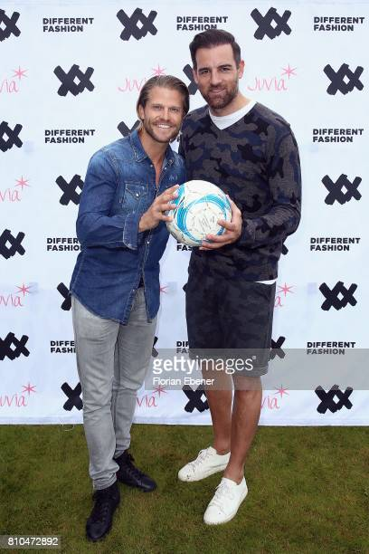 Paul Janke and Christoph Metzelder attend the Different Fashion Event on July 7 2017 in Sylt Germany