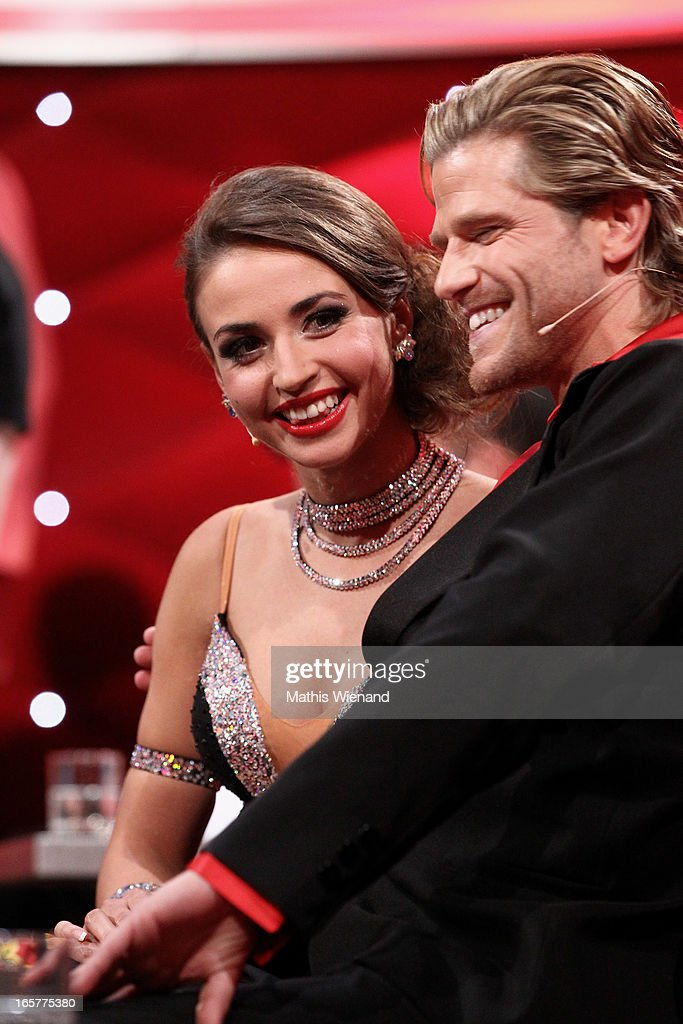 Paul Janke and Ekaterina Leonova attend the 1st Show of 'Let's Dance' on RTL on April 5, 2013 in Cologne, Germany.