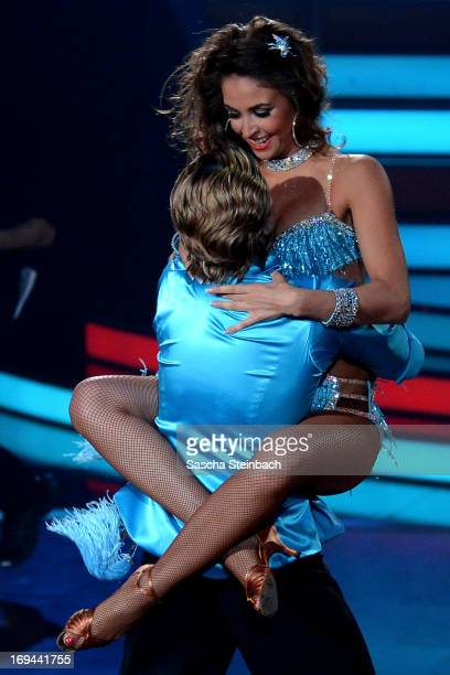 Paul Janke and Ekaterina Leonova attend the Semi Finals of 'Let's Dance' at Coloneum on May 24 2013 in Cologne Germany