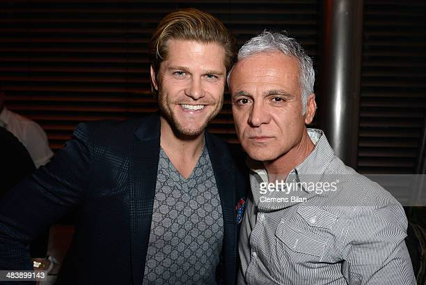 Paul Janke and Nino De Angelo attend the 'Revenge of the Champagne' event as part of the 50 Year Anniversary of Hawesko on April 10 2014 at Au Quai...