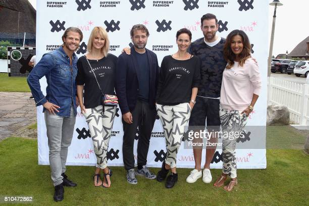 Paul Janke Monica Ivancan Bernd Berger Judith Dommermuth Christoph Metzelder and Marie Amiere attend the Different Fashion Event on July 7 2017 in...