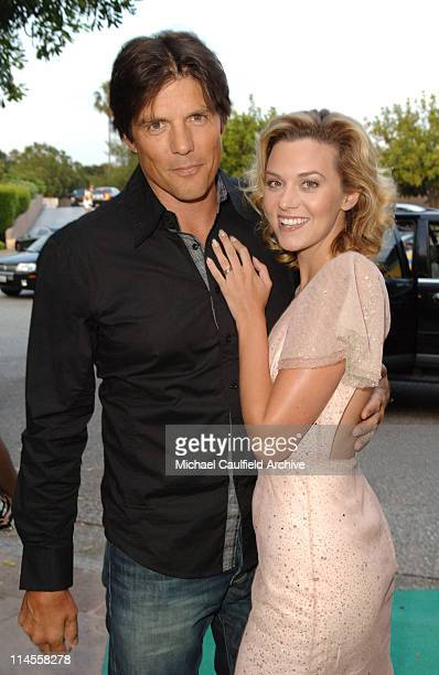 Paul Johansson and Hilarie Burton during The CW Summer 2006 TCA Party Red Carpet at Ritz Carlton in Pasadena California United States