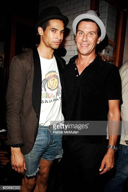 Paul JohnsonCalderon and Peter Davis attend Private Dinner hosted by CARLOS JEREISSATI CEO of IGUATEMI at Pastis on September 6 2008 in New York City