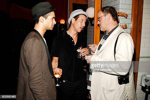 Paul JohnsonCalderon Peter Davis and Todd Eberle attend Private Dinner hosted by CARLOS JEREISSATI CEO of IGUATEMI at Pastis on September 6 2008 in...