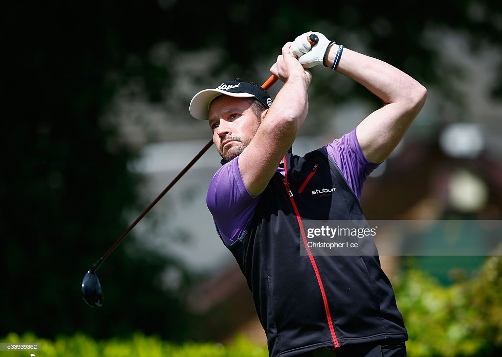 Paul Jones of Ashley Wood Golf Club in action during the Titleist & FootJoy PGA Professional Championship South Qualifier at Woodcote Park Golf Course on May 24, 2016 in Coulsdon, England.