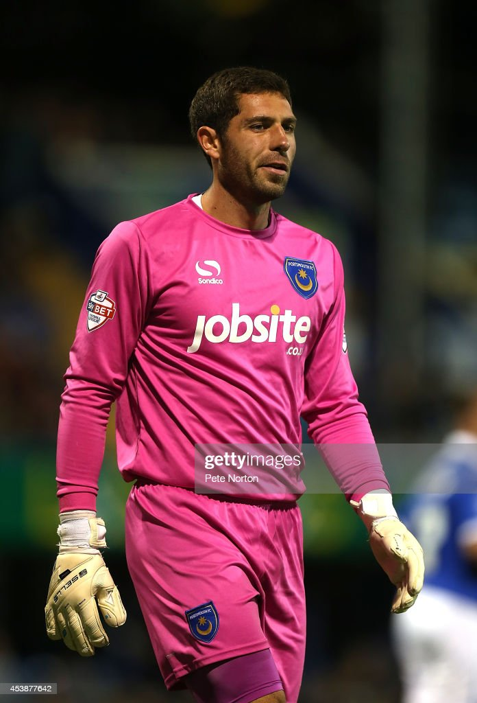 Paul Jones of Portsmouth in action during the Sky Bet League Two match between Portsmouth and Northampton Town at Fratton Park on August 19, 2014 in Portsmouth, England.