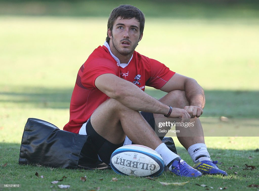 Paul Jordaan during The Sharks training session at Kings Park on February 19, 2013 in Durban, South Africa.