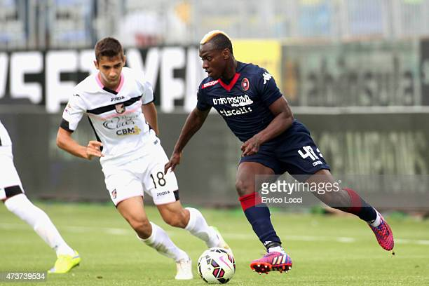 Paul Josè M'Poku of Cagliari in action during the Serie A match between Cagliari Calcio and US Citta di Palermo at Stadio Sant'Elia on May 17 2015 in...
