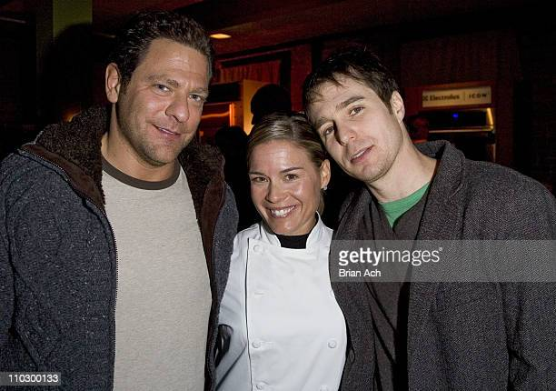 Paul Jowdy Cat Cora and Sam Rockwell during 2007 Park City Bon Appetit Supper Club Hosts Dinner for 'Joshua' at The Claim Jumper in Park City Utah...