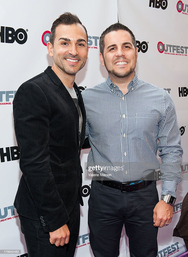 Paul Katami and Jeff Zarillo attends the 2013 Outfest Opening Night Gala Of 'C.O.G.' - Red Carpet at Orpheum Theatre on July 11, 2013 in Los Angeles, California.