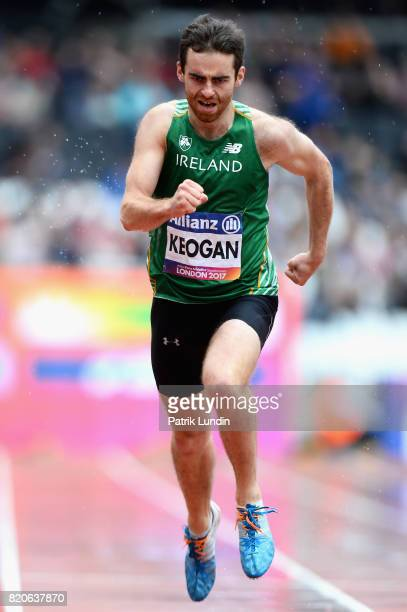 Paul Keogan of Ireland competes in round one heat two of the Mens 400m T37 during day nine of the IPC World ParaAthletics Championships 2017 at...