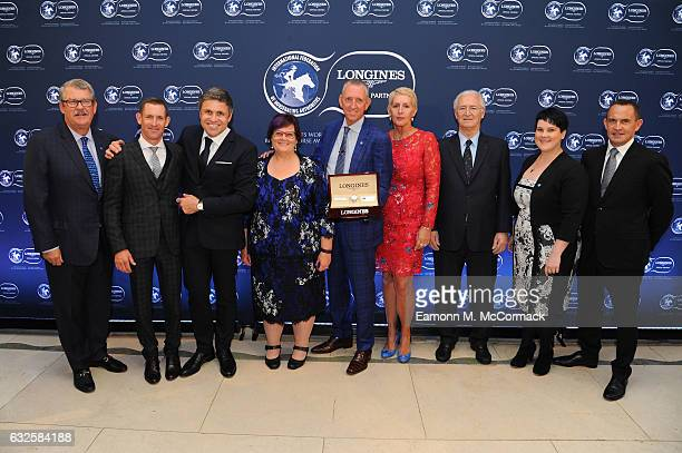 Paul Kepitis Hugh Bowman Debbie Kepitis Peter Tighe Patricia Tighe Lara Kepitis and Chris Waller receive the third Longines World's Best Racehorse...