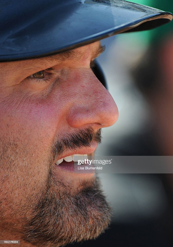<a gi-track='captionPersonalityLinkClicked' href=/galleries/search?phrase=Paul+Konerko&family=editorial&specificpeople=203327 ng-click='$event.stopPropagation()'>Paul Konerko</a> #14 of the Chicago White Sox looks on during the game against the Kansas City Royals at Surprise Stadium on March 17, 2013 in Surprise, Arizona.