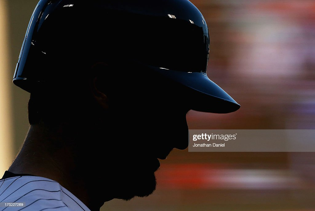 <a gi-track='captionPersonalityLinkClicked' href=/galleries/search?phrase=Paul+Konerko&family=editorial&specificpeople=203327 ng-click='$event.stopPropagation()'>Paul Konerko</a> #14 of the Chicago White Sox prepares to bat against the Oakland Athletics at U.S. Cellular Field on June 6, 2013 in Chicago, Illinois. The Athletics defeated the White Sox 5-4 in 10 innings.