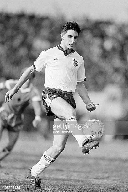 Paul Lake England Under21 in action against Albania Under21 during an Interntional match held at Shkodra on 7th March 1989 England beat Albania 21