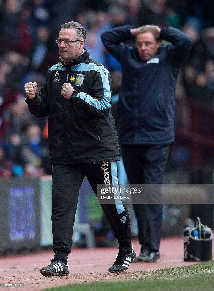 Paul Lambert manager of Aston Villa during the Barclays Premier League match between Aston Villa and Queens Park Rangers at Villa Park on March 16, 2013 in Birmingham, England.