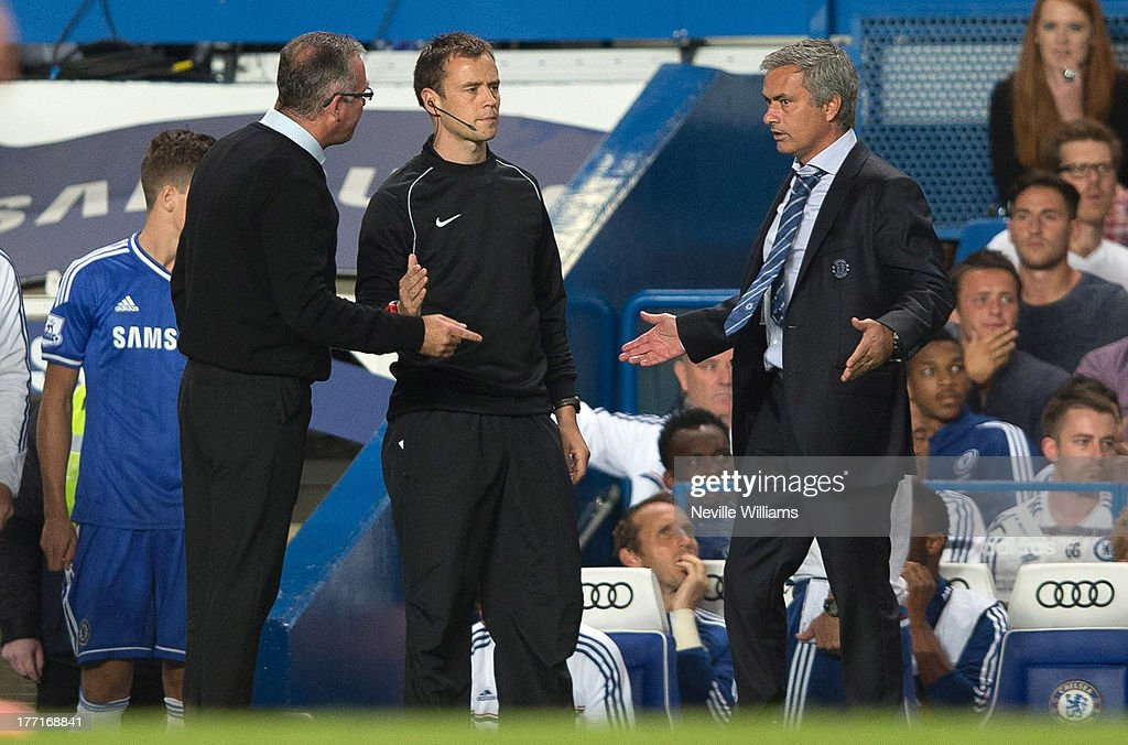 Paul Lambert manager of Aston Villa during the Barclays Premier League match between Chelsea and Aston Villa at Stamford Bridge on August 21, 2013 in London, England.