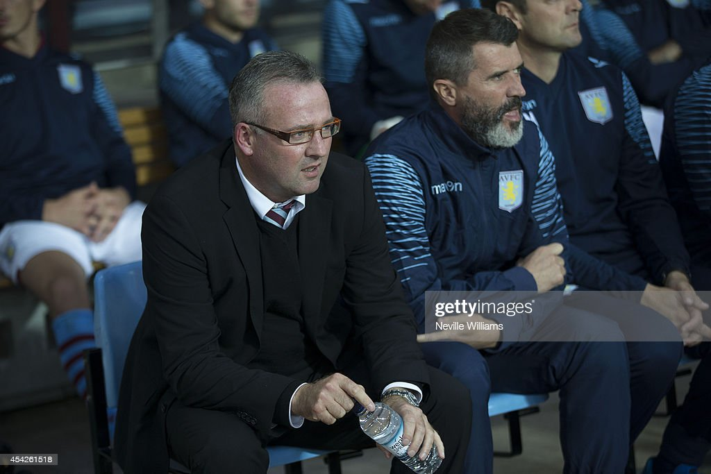 Paul Lambert manager of Aston Villa during the Capital One Cup second round match between Aston Villa and Leyton Orient at Villa Park on August 27, 2014 in Birmingham, England.