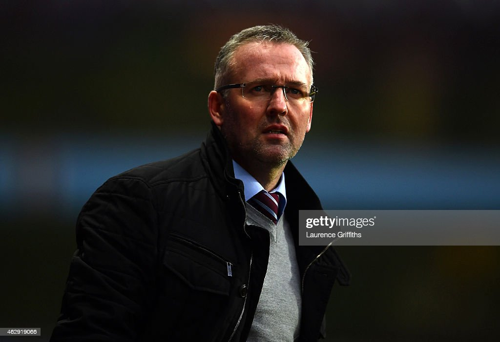 <a gi-track='captionPersonalityLinkClicked' href=/galleries/search?phrase=Paul+Lambert+-+Soccer+Manager&family=editorial&specificpeople=8052775 ng-click='$event.stopPropagation()'>Paul Lambert</a>, manager of Aston Villa looks on during the Barclays Premier League match between Aston Villa and Chelsea at Villa Park on February 7, 2015 in Birmingham, England.