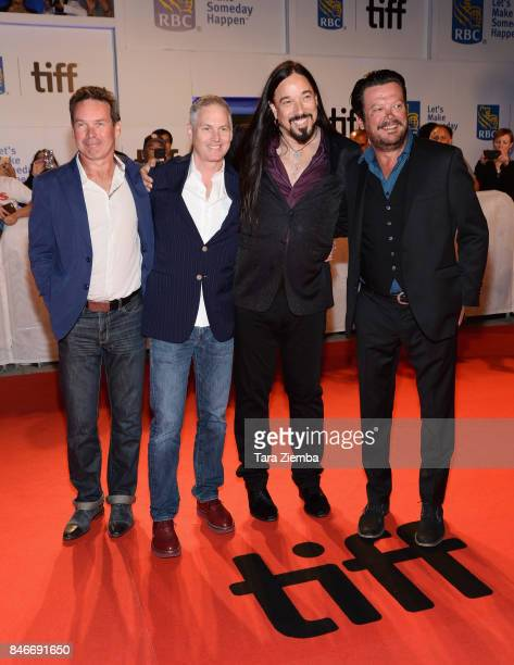 Paul Langlois Johnny Fay Gord Sinclair and Rob Baker of The Tragically Hip attend the 'Long Time Running' premiere during the 2017 Toronto...