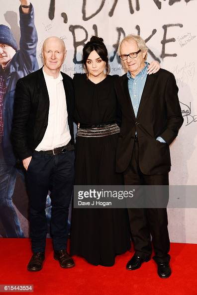 Paul Laverty Hayley Squires and Director Ken Loach attends the 'I Daniel Blake' People's Premiere at Vue West End on October 18 2016 in London England