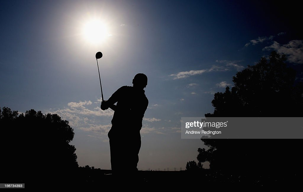 Paul Lawrie of Scotland in action during the Pro Am prior to the start of the Dubai World Championship on the Earth Course at Jumeirah Golf Estates on November 20, 2012 in Dubai, United Arab Emirates.