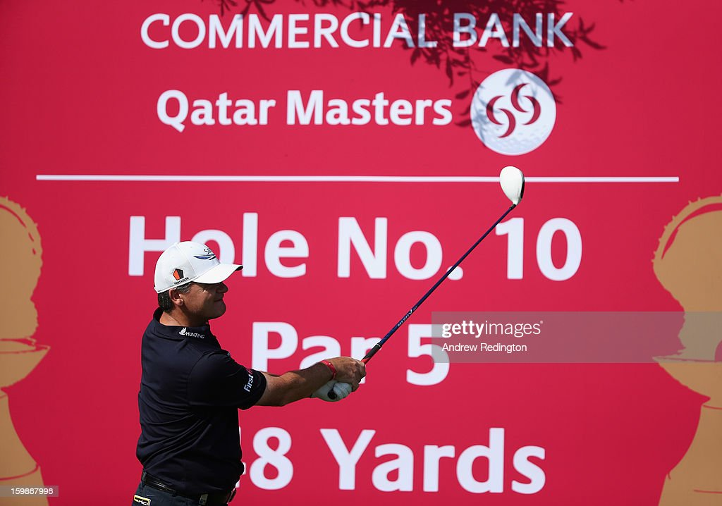 Paul Lawrie of Scotland in action during the Pro Am prior to the start of the Commercial Bank Qatar Masters held at Doha Golf Club on January 22, 2013 in Doha, Qatar.