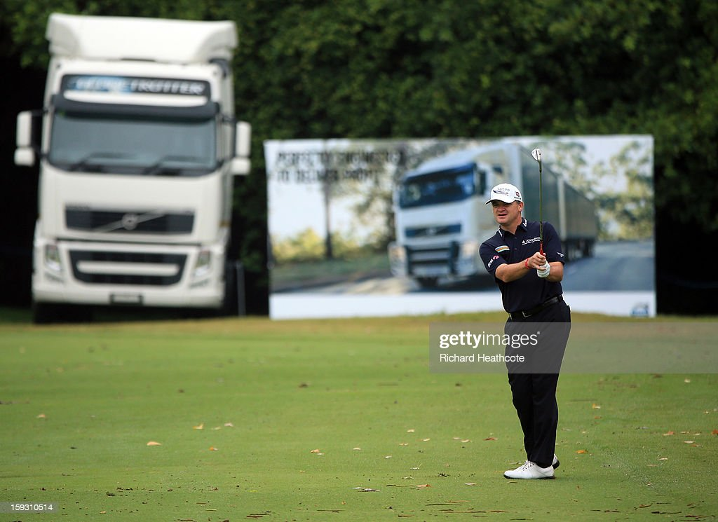 Paul Lawrie of Scotland in action during the second round of the Volvo Champions at Durban Country Club on January 11, 2013 in Durban, South Africa.