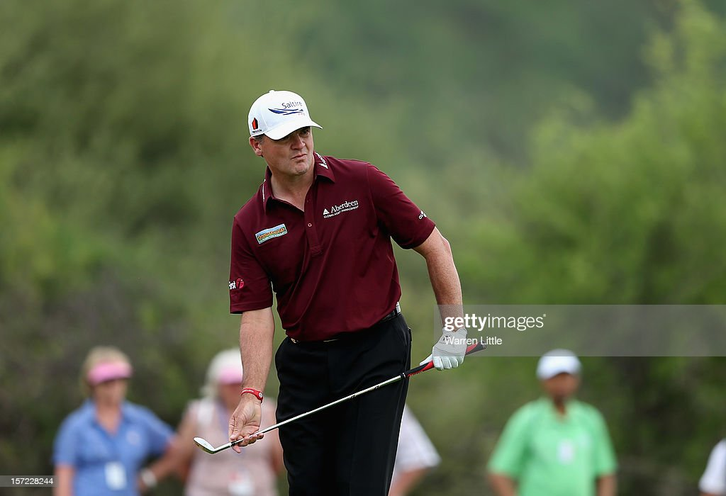 Paul Lawrie of Scotland in action during the second round of the Nedbank Golf Challenge at the Gary Player Country Club on November 30, 2012 in Sun City, South Africa.